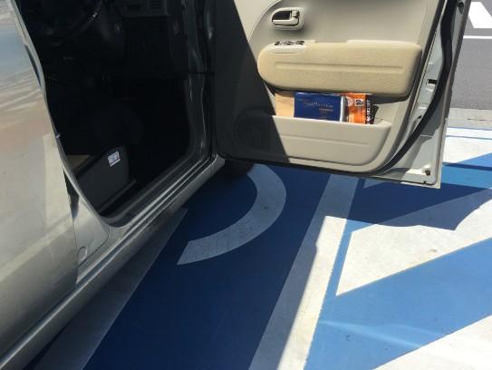 車椅子利用者・お年寄り・妊婦も停めることができる駐車場